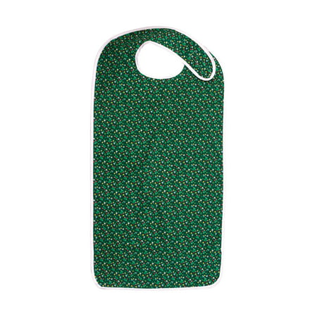 DMI Waterproof Adult Bib Mealtime Clothing Protector, Green Print