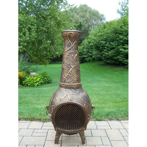 Oakland Living Firepits Cast iron Wood Burning Chiminea by Oakland Living Corporation