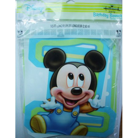 Mickey Mouse Centerpiece Ideas Birthday (Mickeys 1st Birthday Jointed Banner 8ftMeasures 8.5ft long By Mickey)