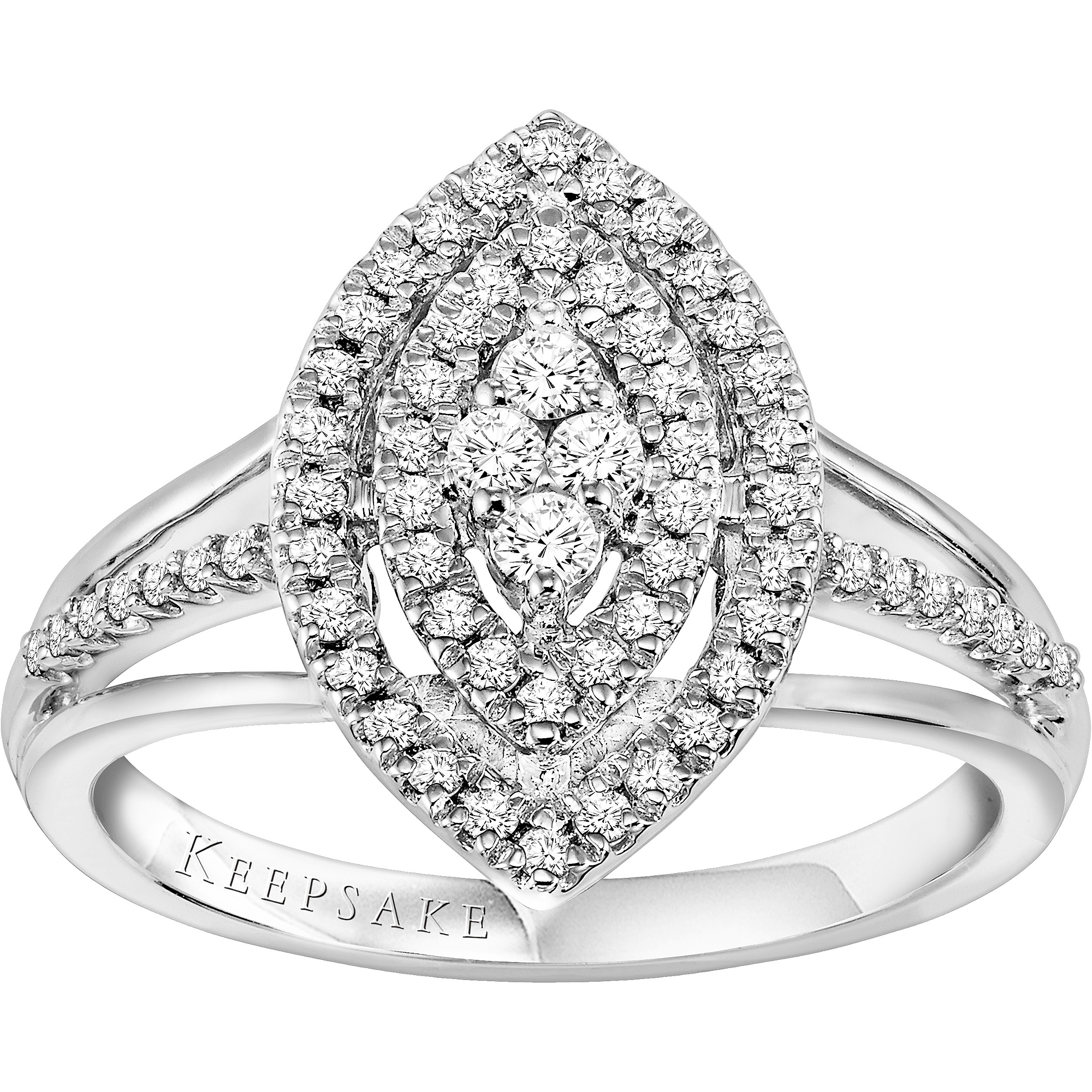 Keepsake Amie 3/8 Carat T.W. Diamond Sterling Silver Engagement Ring