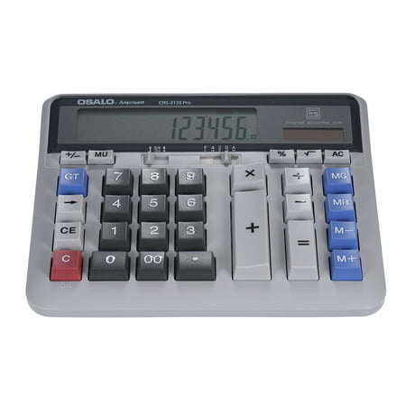 Large Computer Electronic Calculator Counter Solar & Battery Power 12 Digit Display Multi-functional Big Button for Business Office School