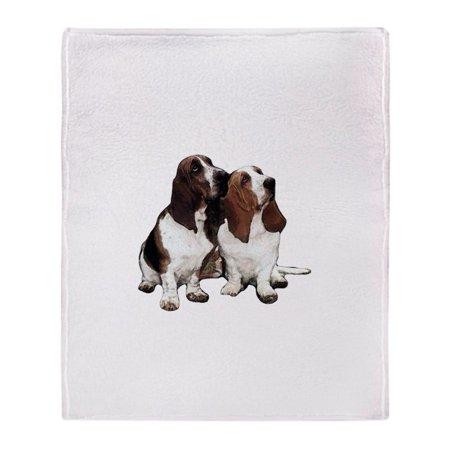 CafePress - Basset Hounds - Soft Fleece Throw Blanket, 50