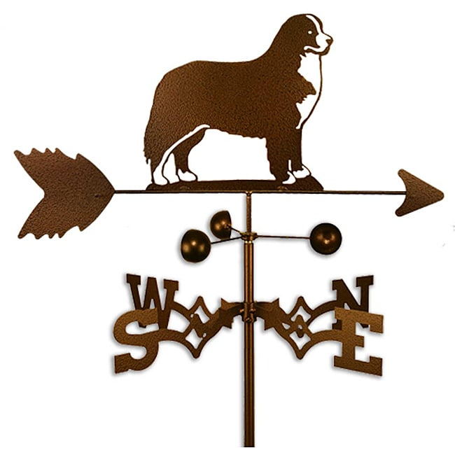 SWEN Products Inc Handmade Bernese Mountain Dog Copper Weathervane by Overstock