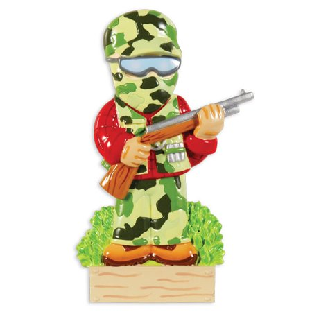 Camo Hunter Personalized Christmas Ornament DO-IT-YOURSELF