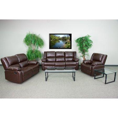 Flash Furniture Harmony Series Brown Leather Reclining Sofa Set Series Brown Leather Sofa