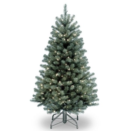 4.5 ft. North Valley Blue Spruce Tree with Clear Lights (Blue Spruce)