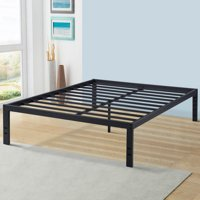 Sleeplace New 18 Inch Solid Metal Steel Slat Bed Frame, Twin