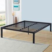 Sleeplace New 18 Inch Solid Metal Steel Slat Bed Frame, Twin