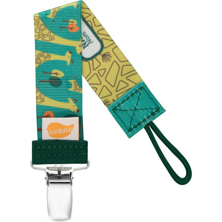Ulubulu Green Giraffe Pacifier Clip, Single Pack
