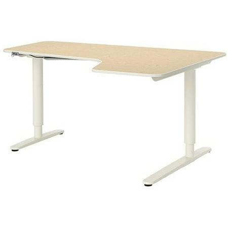 Enjoyable Ikea Corner Desk Right Sit Stand Birch Veneer White 18202 8814 382 Download Free Architecture Designs Scobabritishbridgeorg