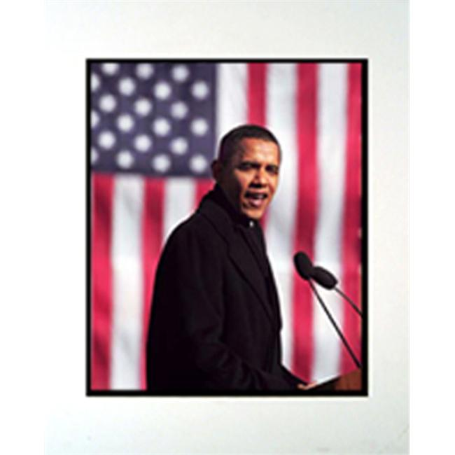 Encore Select m2-IB01507 Barack Obama Speech 11 in. x 14 in. Photograph in a Mat