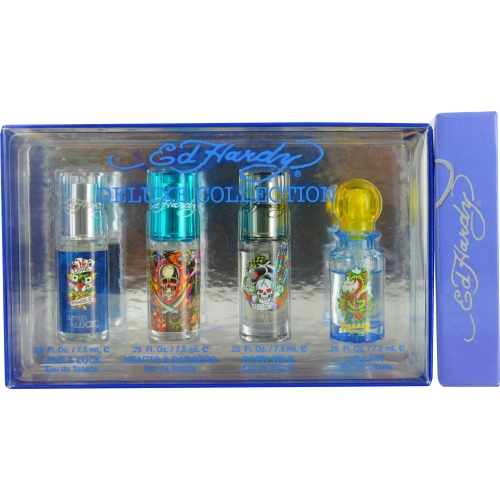 Christian Audigier Ed Hardy Deluxe Collection for Women Eau de Toilette Gift Set, 4 pc