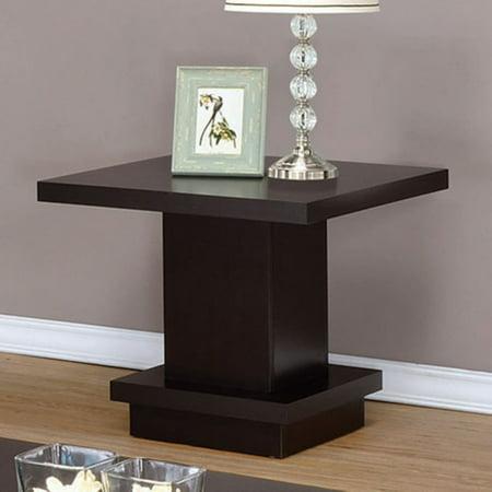 (Coaster Company Pedestal Style End Table, Cappuccino)
