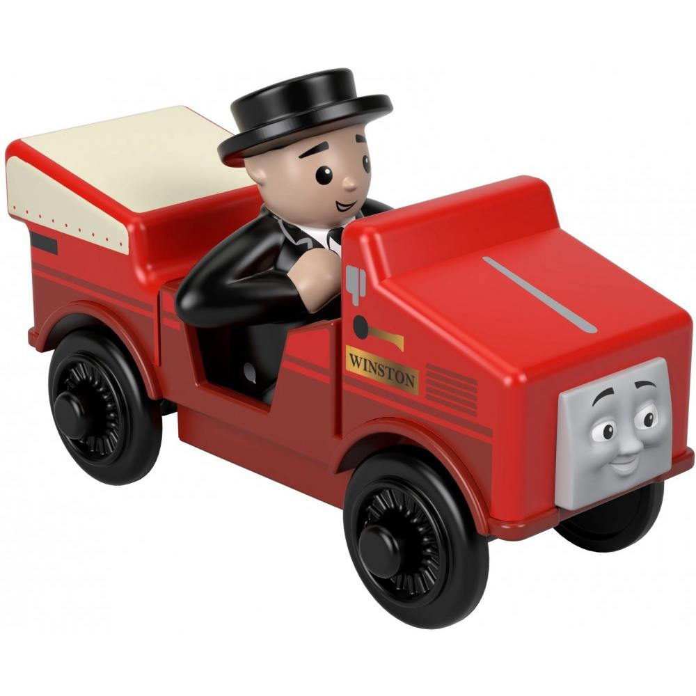 Thomas & Friends Wood Winston Rail Car & Sir Topham Hatt Figure