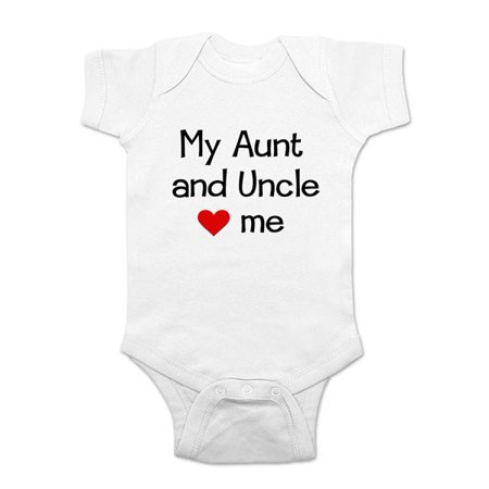 13cd7c976 My Aunt and Uncle love me - wallsparks cute & funny Brand - baby one piece  bodysuit - Great baby shower gift! - Walmart.com