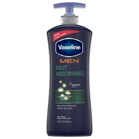Vaseline Men Fast Absorbing Healing Moisture Body Lotion, 20.3 (Body Moisturizers Exfoliants)