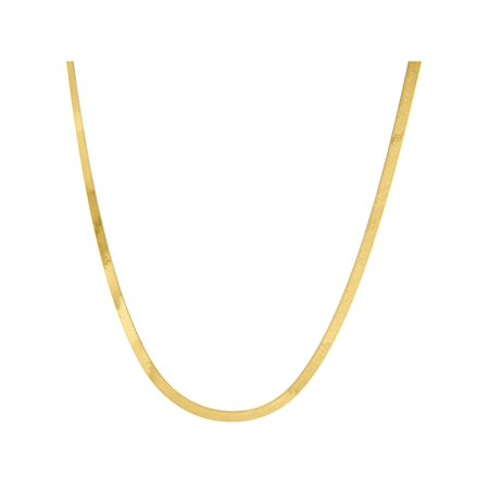 10K Yellow Gold 2.75mm Silky Herringbone Chain Necklace Lobster Clasp, 20 - Spiral Herringbone
