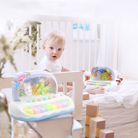 Baby Sound And Light Music Snowflake Small Piano Infant Educational