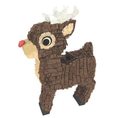 Rudolph Reindeer Pinata Christmas Decoration, Photo Prop and Party Game, 16