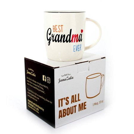Janazala Best Grandma Ever Mug Coffee Birthday Gift Idea For Grandparents Christmas Gifts Grandmother Mothers Day Tea Ceramic