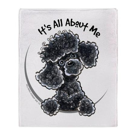 CafePress - Black Poodle Lover - Soft Fleece Throw Blanket, 50