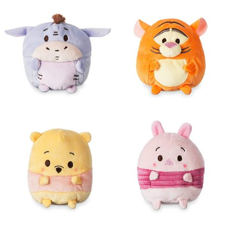 Disney Ufufy Winnie the Pooh. Eeyore. Piglet and Tiger complete set small scented plush bundle. 4.5 - Tiger From Winnie The Pooh
