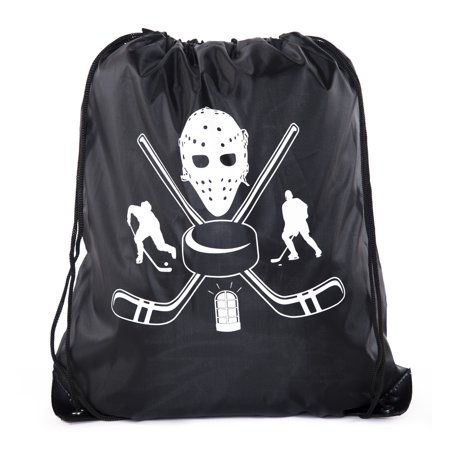 Hockey Party Bags | Hockey Drawstring backpacks for Birthdays, Team Events &