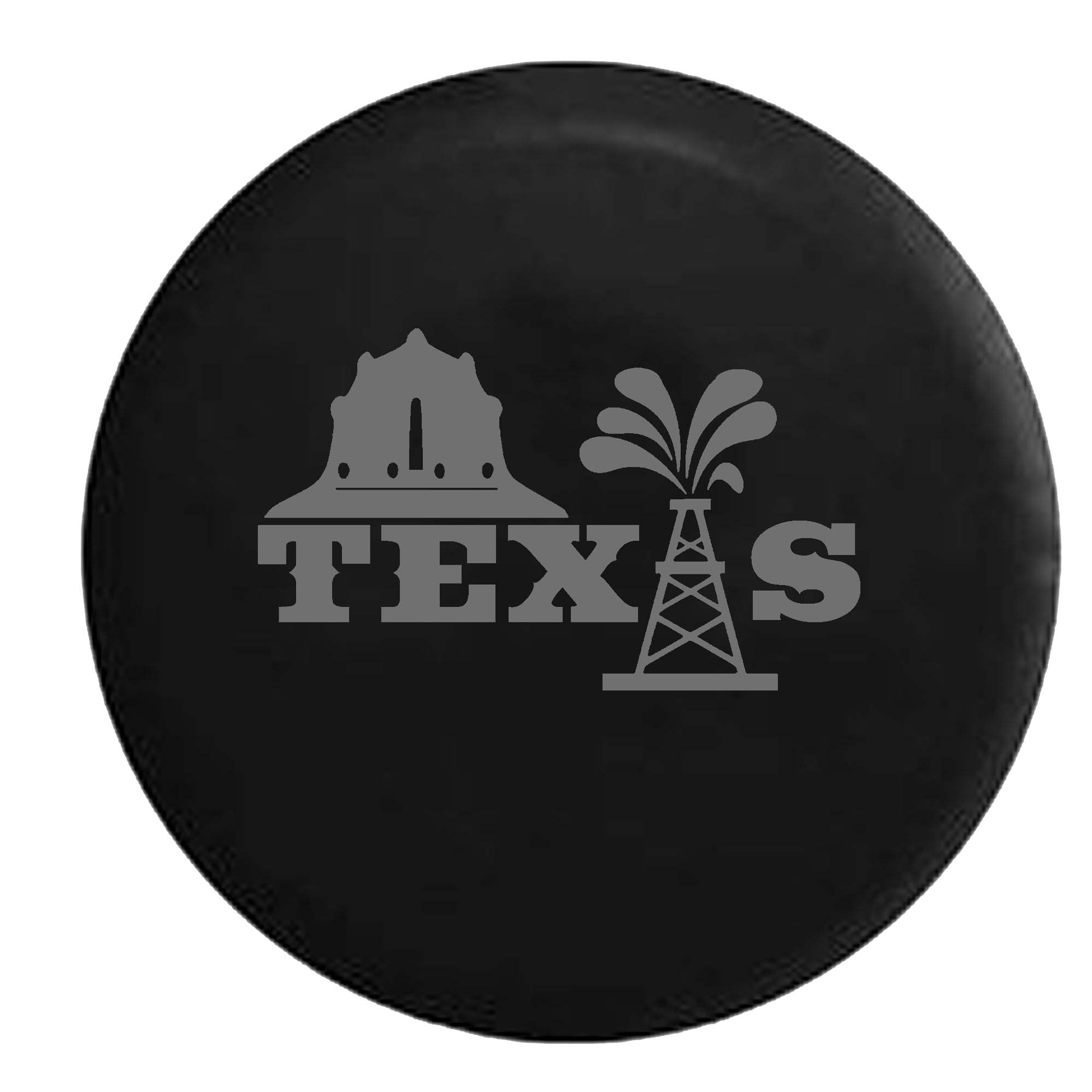 Texas Oilfield Oil Worker Helmet Tower Spare Tire Cover V...