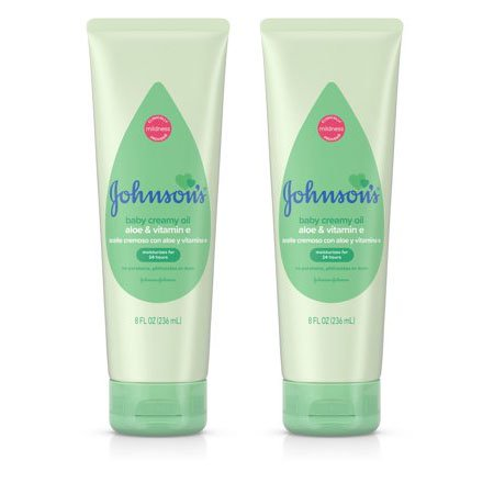 (2 Pack) Johnson's Creamy Oil Moisturizing Baby Body Lotion, 8 fl. oz