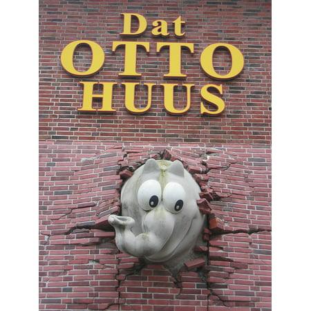 Canvas Print Otto Waalkes Lindros88 Cartoon Character Otto Stretched Canvas 10 x (Otto Cartoon Character)
