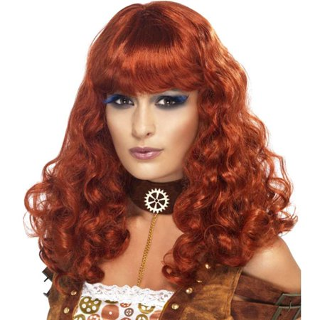 Steampunk Auburn Female Costume Wig - Steampunk Wigs