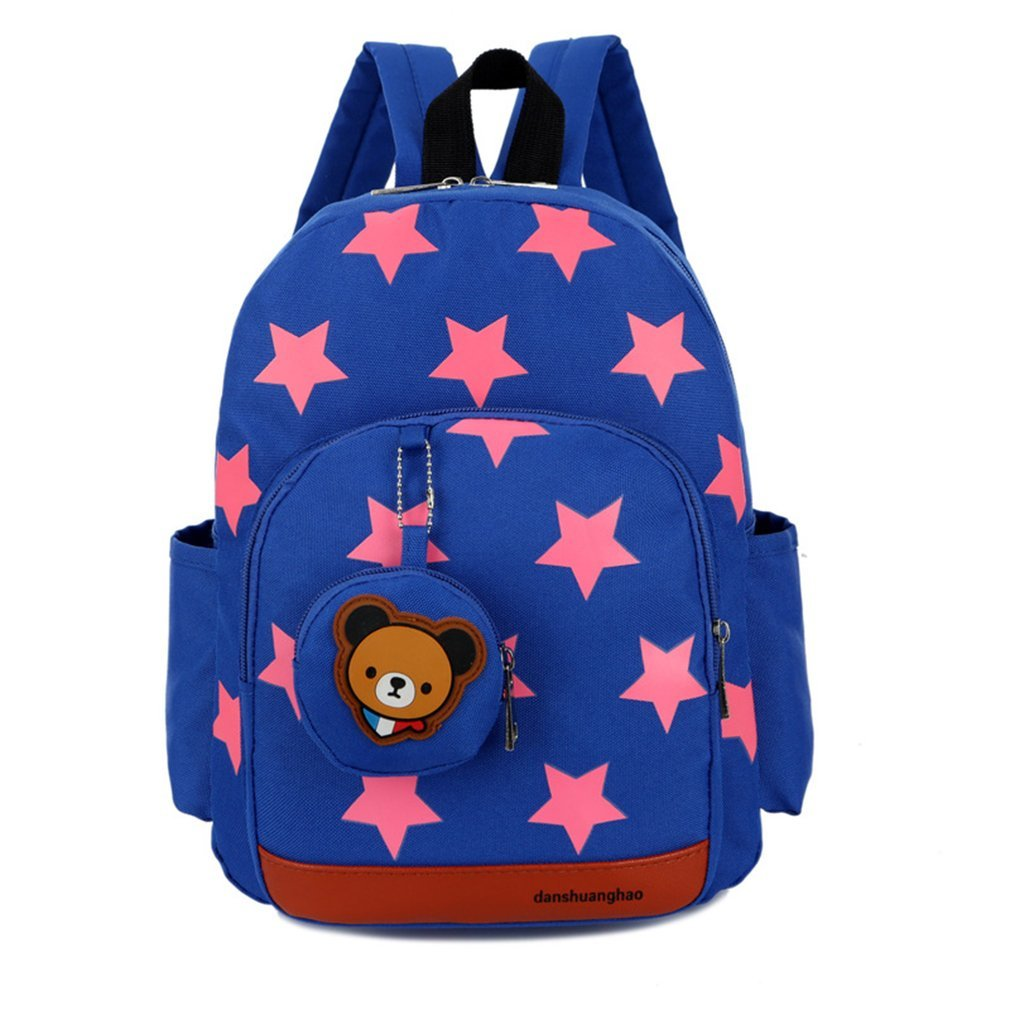Stars Printed Children Backpack Adjustable Strap For Student School Bags by