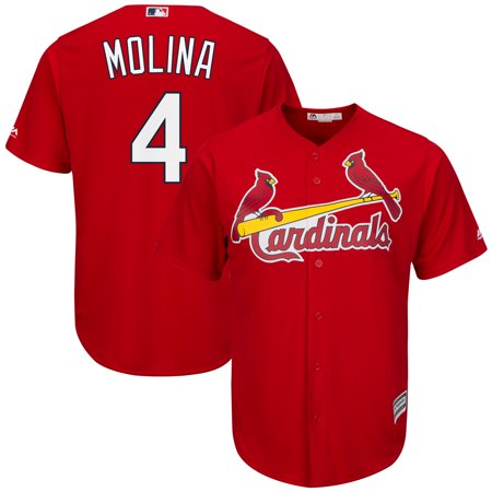 Yadier Molina St. Louis Cardinals Majestic Cool Base Player Jersey - Scarlet