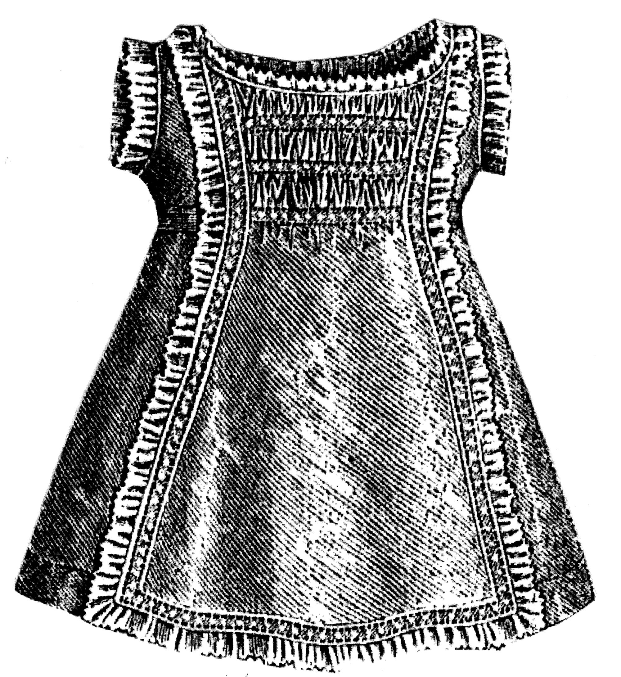 Sewing Pattern: 1875 Slip for Girl 2-4 Years Pattern
