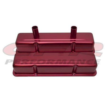 Circle Track Supply >> Aluminum Stamped Tall Valve Covers Chevy Small Block Circle Track 283 400 Anodized Red