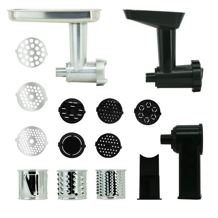 Grinder Attachment - Farberware Meat Grinder, Slice and Shred, and Pasta Maker Stand Mixer Attachments, 3 pc set