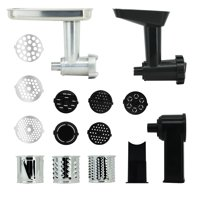 Farberware Meat Grinder, Slice and Shred, and Pasta Maker Stand Mixer Attachments, 3 pc set