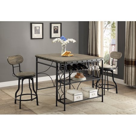 Wondrous Os Home And Office Model 1773K Counter Height Craft Dining Table With Two Swivel Chairs Evergreenethics Interior Chair Design Evergreenethicsorg