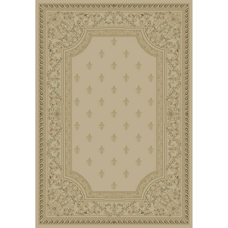 Concord Global Trading Imperial Collection Fleur De Lys Area Rug (Concord Global Natural)