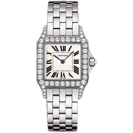 Santos Demoiselle 18kt White Gold Diamond Large Ladies Watch ()