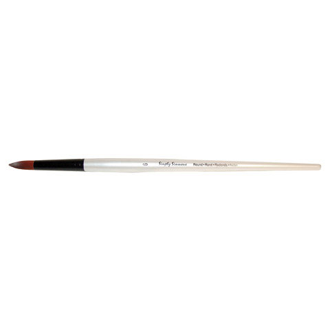 Robert Simmons - Simply Simmons Extra-Firm Synthetic Long Handle Brush - Round - 6