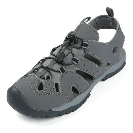 Northside Mens Burke II Sport Athletic Sandal (Vegan Grey Synthetic Athletic Shoes)