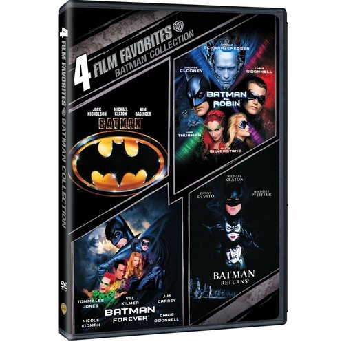 4 Film Favorites: Batman Collection Batman   Batman Returns   Batman Forever   Batman And Robin (DVD + Batman... by
