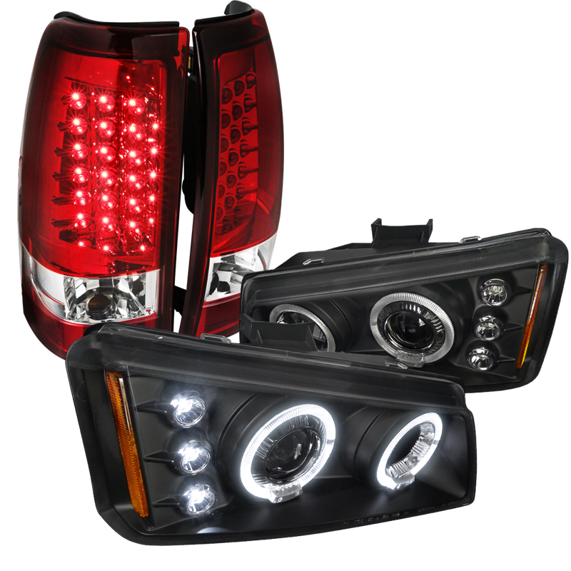Blk 2003 2006 Chevy Silverado 1500 Led Tail Lights Lamps