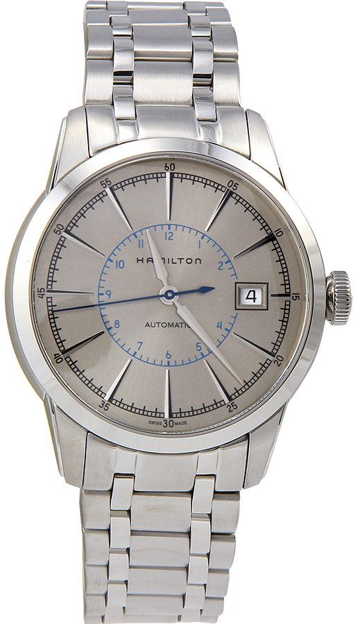 Hamilton Railroad Silver Dial Stainless Steel Mens Watch H40555181 by Hamilton