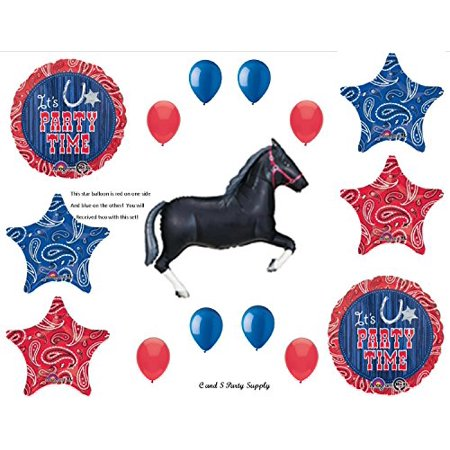 WESTERN HORSE BANDANA Birthday PARTY Hoedown Rodeo Balloons Decorations Supplies by Anagram - Horse Birthday