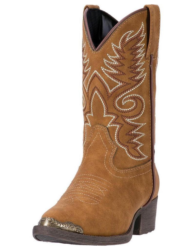 Laredo Western Boots Boys Tobi Cowboy Western Stitching Brown LC2222 by Laredo