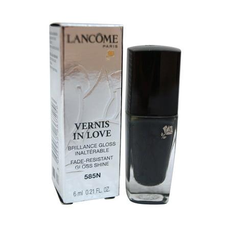 Vernis Nail Polish (Lancome Paris Vernis In Love Gloss Shine Nail Polish 585N Noir Caviar )