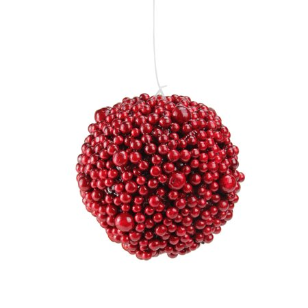 "Northlight 6"" Artificial Festive Berries Ball Christmas Ornament - Red"