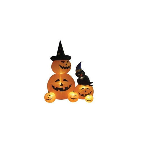BZB Goods 8' Halloween Inflatable Animated Pumpkins and Cat